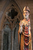 The Cloisters -Polychrome carved Wooden Bishop