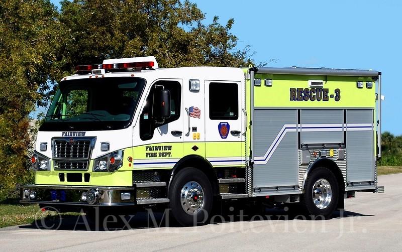 Fairview Fire Department<br /> Rescue-3<br /> 2011 Spartan Furion/EVI<br /> Photo by: Alex M. Poitevien Jr.