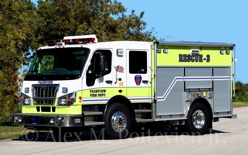 Fairview Fire Department<br /> Rescue-3<br /> 2011 Spartan Furion/EVI<br /> Photo by: Alex M. Poitevien Jr.