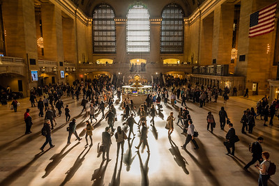 Morning commuters at the Grand Central Terminal