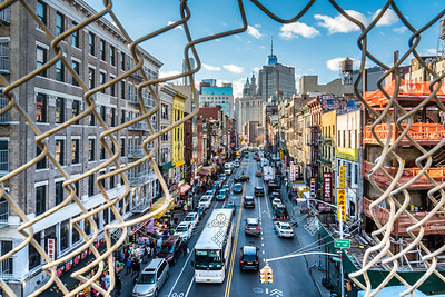 View of Chinatown from Manhattan Bridge