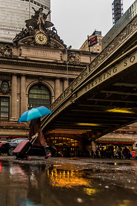 Rainy day at Grand Central Terminal.