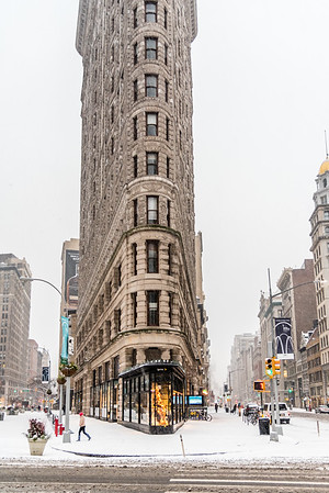 Snow day at Flatiron District