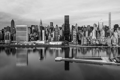 Manhattan Skyline in black and white