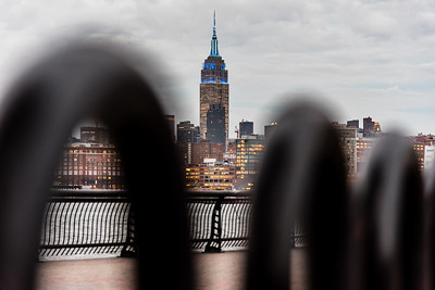 View of Empire State Building from Hoboken.