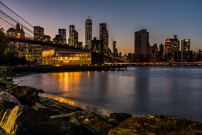 New York City skyline from Brooklyn.