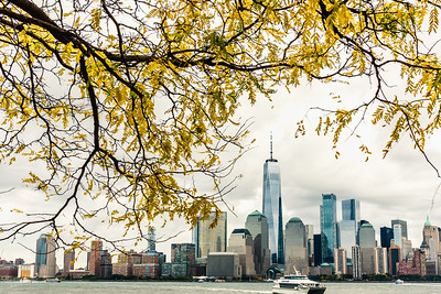 Autumn view of One World Trade Center.