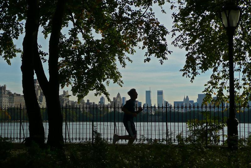 Jogging along Jacqueline Kennedy Onassis Reservoir - Central Park - 2008