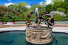 The Untermeyer  Fountain of Three Dancing Maidens in the North Garden of Central Park in New York city, New York, USA.