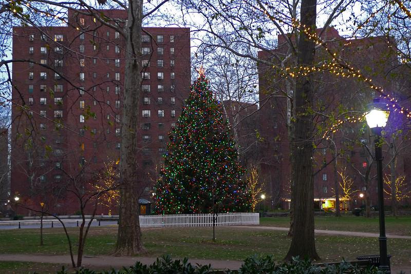 Christmas Tree at Stuyvesant Town - East Village - 2010