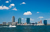 New Jersey skyline from Battery Park, New York City, New York, USA, America.