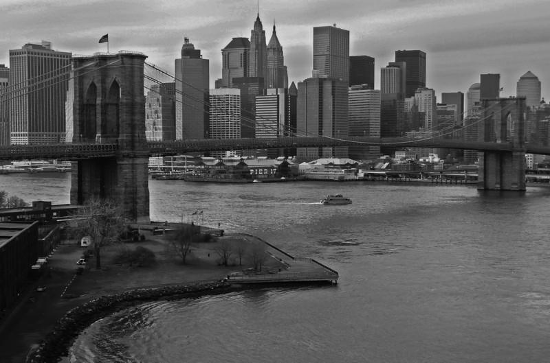 Brooklyn Bridge and Lower Manahattan - 2008