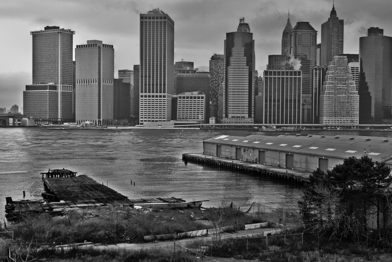 Piers and Lower Manhattan - 2007