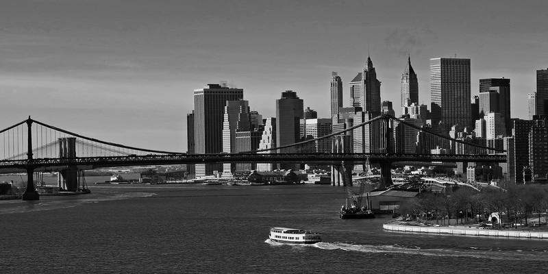 Lower Manhattan and the Manhattan & Brooklyn Bridges - 2011