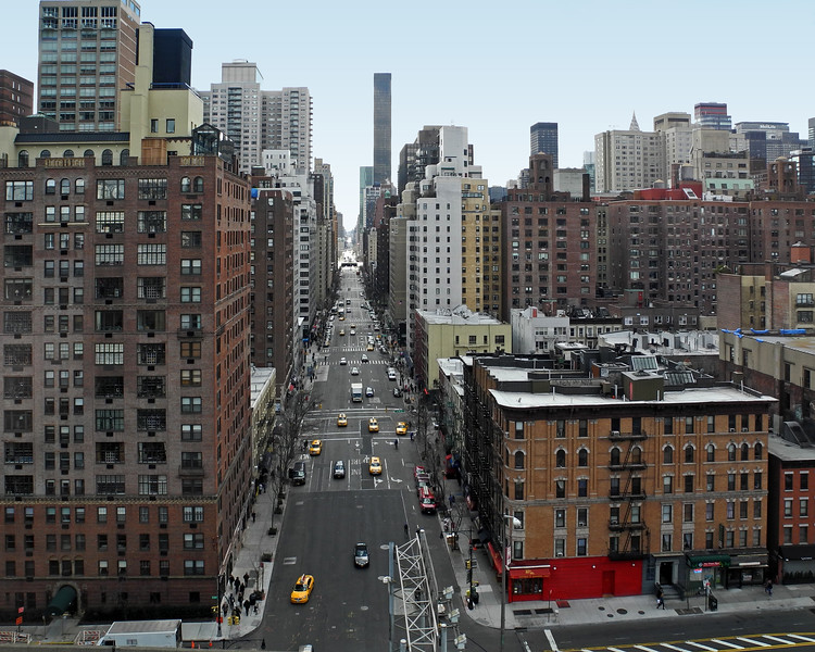 A view down 1st. Avenue from 59th. Street - 2013