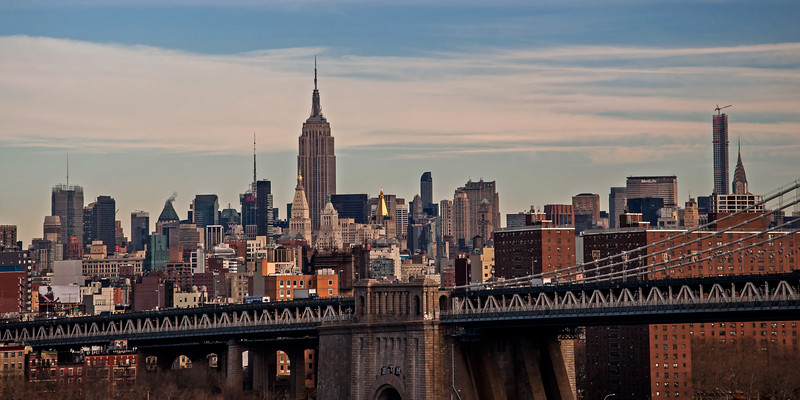 Empire State Building and Manhattan from the Brooklyn Bridge - 2014