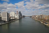 A view up the East River from the Roosevelt Island Tram - 2013