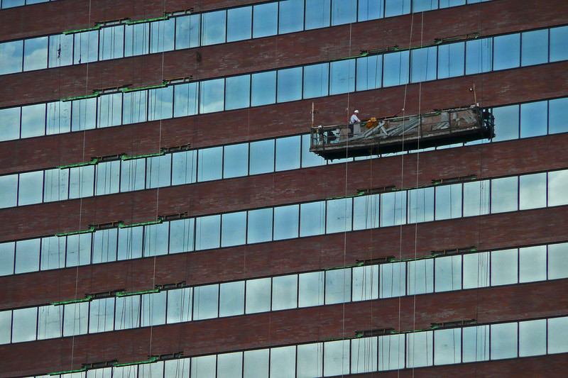 Window washers - Lower Manhattan - 2008