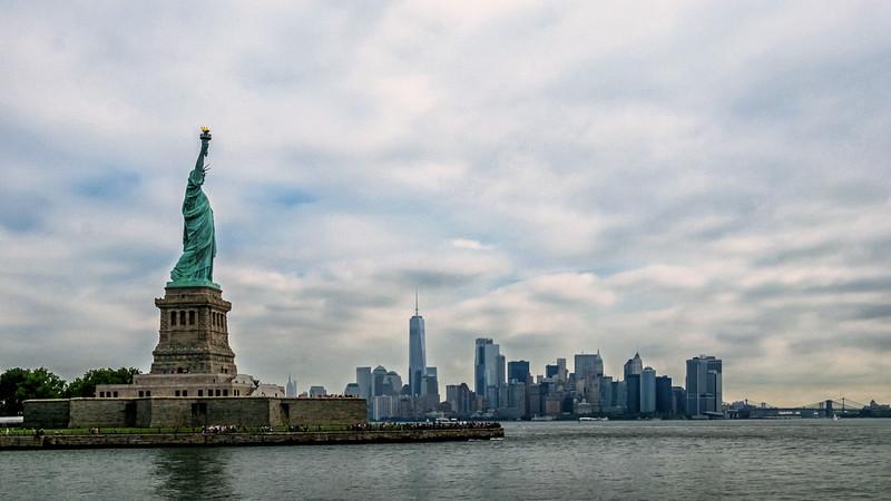 Liberty Island and Manhattan - 2017