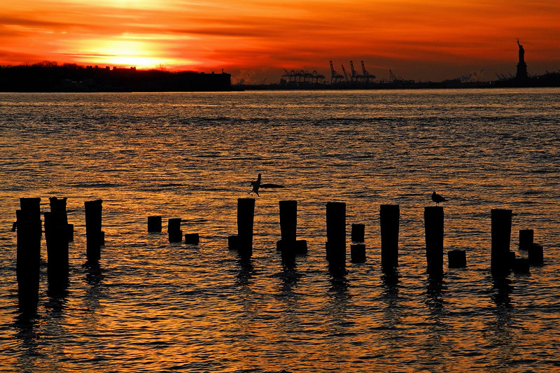 Sunset over Governors Island - 2011