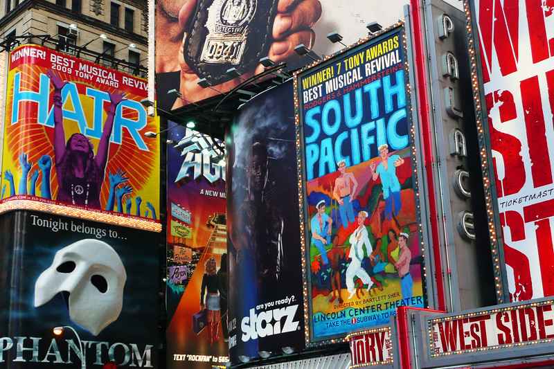 Signs in Times Square - 2010