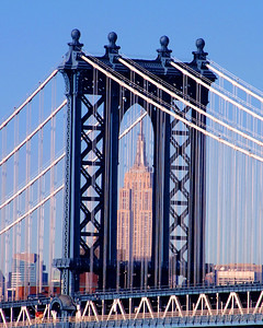 Manhattan Bridge looking towards the Empire State Building