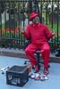 Get a shoeshine on Broadway in Lower Manhattan - 2008