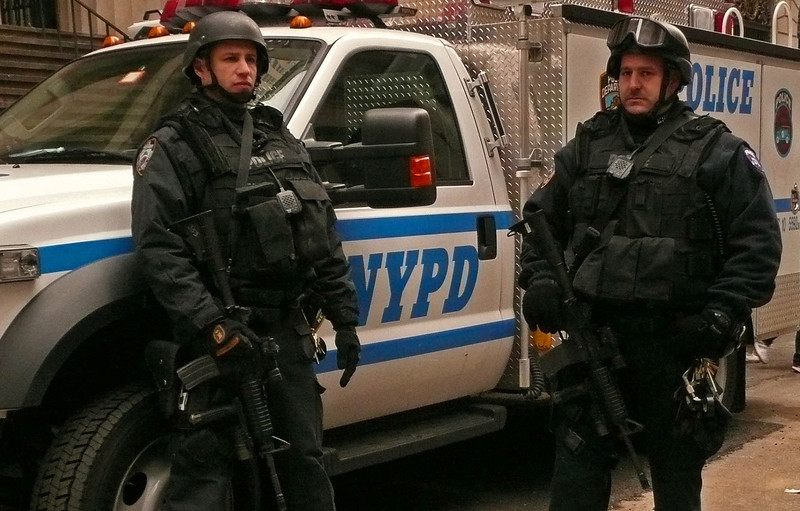 Security on Wall Street at the New York Stock Exchange - Lower Manhattan - 2008