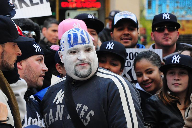 Yankees fans  at 2009 World Series Parade - Lower Manhattan - 2009