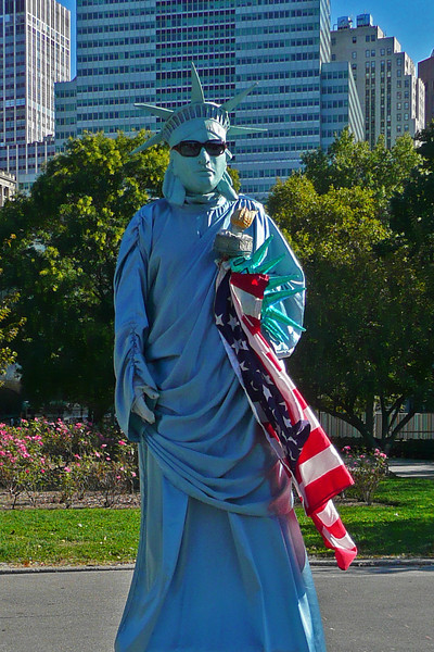 """""""Statue of Liberty"""" in Battery Park - 2008"""