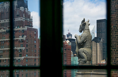 Looking out the window from one of the penthouses at 5 Tudor City Place, NYC.