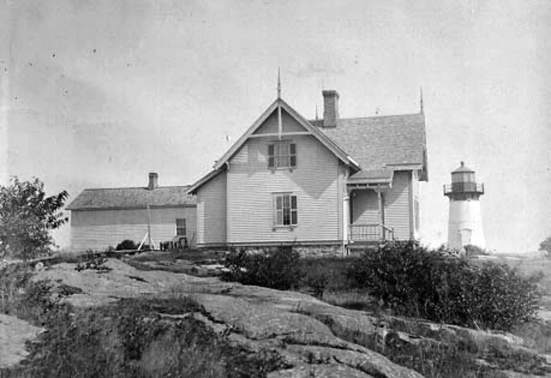 Old US Coast Guard photo of Crossover Island Light Station