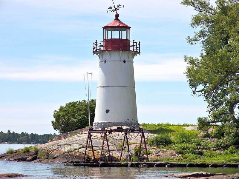 It wasn't very long before Light House Board annual reports began to cite problems at Crossover Island.  An 1868 report stated that the roof leaked badly where the tower met the dwelling and the 'soft brick' used for the dwelling and fallen out in several places.  Several repairs were made in 1869, but by 1872 the Light House Board requested funding to rebuild the Crossover Island Light Station.