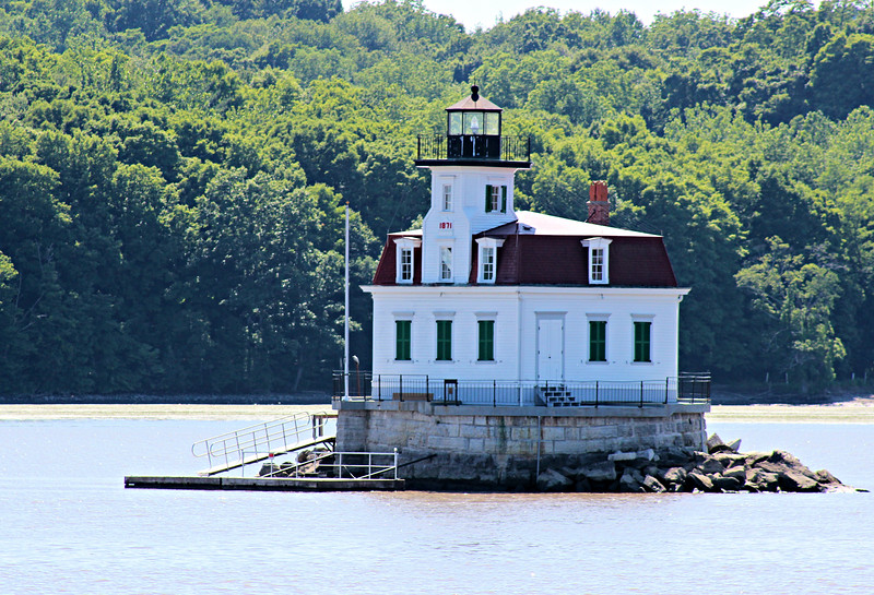 Over the next few decades ice floes battered the wooden pier causing damage to the lighthouse.  In 1855 the lantern was refitted with a Sixth Order Fresnel lens which replaced the oil lamps and reflectors.
