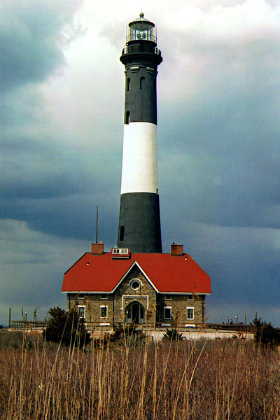 When the Lighthouse Board became responsible for the country's lighthouses in 1852 it set out to upgrade the coastal lights.  On Long Island it immediately planned to make improvements at Montauk Light, build a new lighthouse at the Great West Bay (Shinnecock Light) and build a new lighthouse on Fire Island.  After the builders completed the Shinnecock Light they moved down the coast to Fire Island.  In 1857 they prepared an estimate that it would cost $32,345 to replace the light.