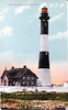 Old postcard view of the Fire Island Lighthouse