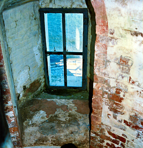 *A view of a window in the tower* In 1837 a new Keepers House was built at the bottom of Turtle Hill and still stands today. In 1860 under the direction of the Lighthouse Board, the Montauk Point Light station underwent massive renovations. The height of the tower was increased to 110 feet and a new lantern to house a 1st Order Fresnel lens was installed.
