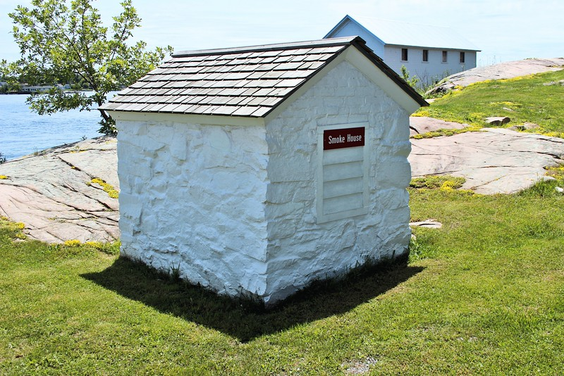The 1847 Smoke House is the only remaining building from the 1848 Light Station