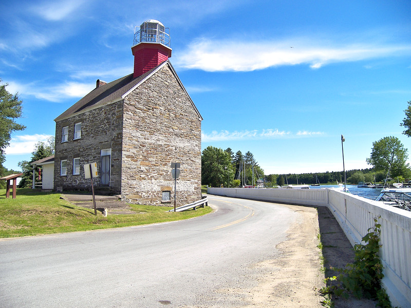 The light was completed in August of 1838 at a cost of $3,000. It utilized stone mined from a local quarry. Shortly thereafter two government piers were constructed at the rivers mouth.