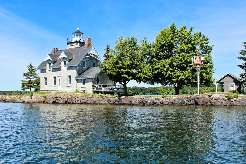 In 1966 the Coast Guard declared the lighthouse surplus, and the General Services Administration offered the property to any federal, state or local government organization, but none came forward and the property went to public auction in 1967.  A winning bid of $6,594 was made by the Wolos family of Pequannock, New Jersey and the lighthouse remains in private ownership today.  The lighthouse is difficult to see from land and is best seen from local tour boats, many of which provide trips to nearby attraction Singer Castle.