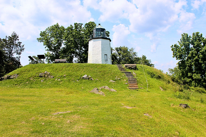 """Hudson River historian Ruth Reynolds Glunt believed that the stone used in the construction of the lighthouse came from the old British fort which previously resided at the site.  Americans led by """"Mad"""" Anthony Wayne captured the British fort at Stony Point in July 1779 in the last major battle of the Revolutionary War in the northern colonies."""