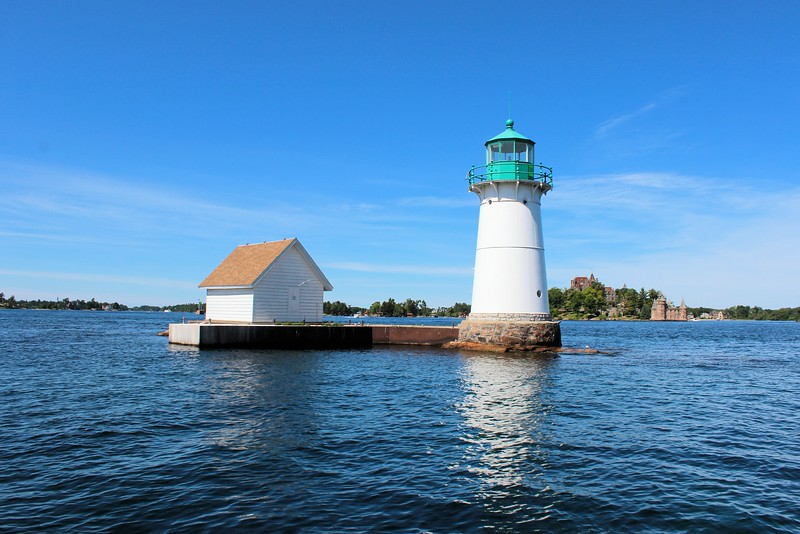 In March 1847 Congress appropriated funds to construct 3 lighthouses in response to the increasing shipping in the St. Lawrence River.  The Thousand Islands section of the river was full of submerged rocks and ledges making navigation dangerous.  The lighthouses to be built were at Rock Island, Sunken Rock near Alexandria Bay and Crossover Island.