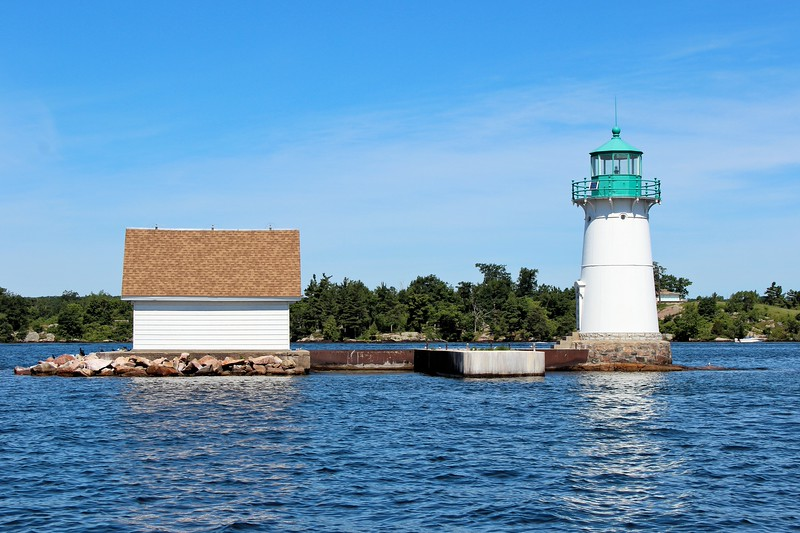 A Light House Board report in 1878 noted that the Sunken Rock brick tower was sheathed in wood and was 'in bad repair'.  The report recommended a new tower and lantern should be built, along with a dwelling for the Keeper.  The Keeper of the lighthouse had to rent accommodations in Alexandria Bay and row out to the light each day.