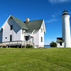 The government contracted Elbridge Potter to build a lighthouse station at Tibbetts Point for $1,747.  The station consisted of a 30 foot stone tower; a 2 story Keepers dwelling with an outdoor kitchen and an outhouse which was completed in late 1827.