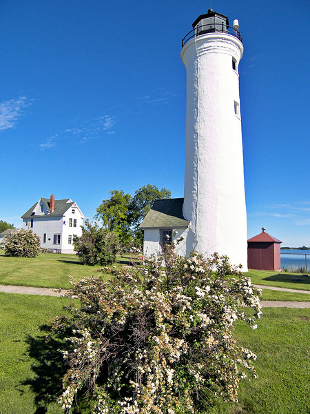 In November 1930 the light was electrified and its characteristic was changed from a fixed to an occulting light.  The Tibbetts Point Light was maintained by a civilian keeper until the retirement of Edward Sweet in 1967.  Sweet had served at Tibbetts Point since 1958 with prior service at Crossover Island Light, Sunken Rock Light and Ohio's Lorain Lighthouse.