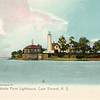 Old postcard view of the Tibbetts Point Lighthouse