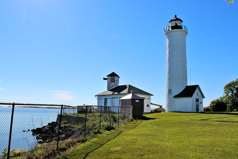 In 1827 three acres of land were deeded from Captain John Tibbetts of Troy, New York to the Federal government for the purpose of building a lighthouse.  The lighthouse at Tibbetts Point would prove to be invaluable guiding shipping to and from the Great Lakes to the St. Lawrence Seaway and the Atlantic Ocean.