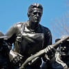 """World War I 107th Infantry Memorial by Karl Illava, Central Park <br><br> Karl Illava (1896-1954) designed and created this bronze sculpture depicting seven World War I foot soldiers in battle. It is located in Central Park at 5th Avenue and 67th Street in Manhattan. The work is one of several war memorials in Central Park and is dedicated to the men who served in the 107th New York Infantry Regiment during World War I. According to <a href=""""http://en.wikipedia.org/wiki/List_of_sculptures_in_Central_Park"""">Wikipedia,</a> the regiment saw heavy action as 580 men were killed and 1,487 were wounded out of 3,700 men originally in the regiment, with two soldiers awarded the Congressional Medal of Honor. The statue depicts seven men, with the helmetless leader and another soldier rushing to enemy positions with guns drawn and bayonets fixed. To the side (not shown) soldiers support the wounded. <br><br> The 7th-107th Memorial Committee donated the bronze memorial. Illava, who served in the 107th IR as a sergeant, conceived the monument in about 1920. It was constructed from 1926–1927 and placed in Central Part in its current location near the perimeter wall. According to  <a href=""""http://www.centralparknyc.org/visit/things-to-see/south-end/107th-united-states-infantry.html"""">the Central Park website,</a>  in a lighter moment, Illava described the group as """"the doughboys chasing each other out of Central Park.""""  <br><br> Information from the <a href=""""http://siris-artinventories.si.edu/ipac20/ipac.jsp?session=1V16239913W1G.64299&profile=ariall&source=~!siartinventories&view=subscriptionsummary&uri=full=3100001~!7692~!3&ri=1&aspect=power&menu=search&ipp=20&spp=20&staffonly=&term=Karl+illava&index=.AW&uindex=&aspect=power&menu=search&ri=1#focus""""> Smithsonian Art Inventories Catalogue:</a>  <br><br> Medium: Sculpture: bronze; Base: granite <br><br> Dimensions: Sculpture: approx. 9 ft. 6 in. x 14 ft. 6 in. x 5 ft. 3 in.; Base: approx. 4 ft. 5 in. x 25 ft. x 9 ft <br><br> Inscript"""