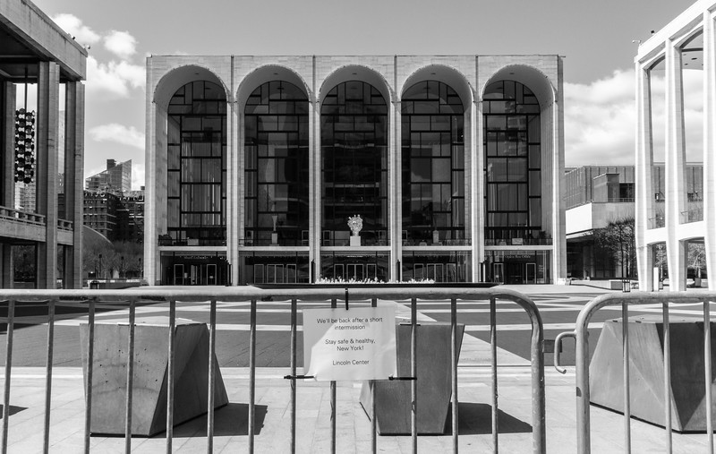 Lincoln Center During the COVID Crisis, April 4, 2020