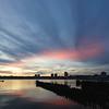 Hudson River, November 11, 2011, 4:50 pm<br /> <br /> A strange cloud formation at sunset along the Hudson River. I shot this at 10 mm (16 mm with 1.6 crop factor) at f9, 1/4, 100 ISO.